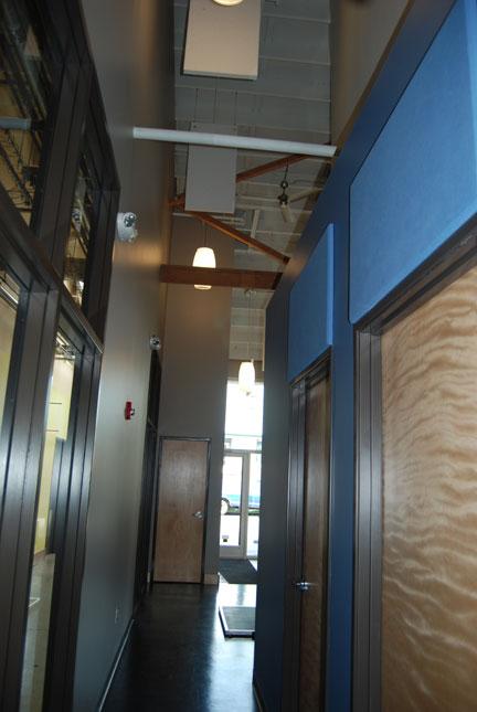 Fiberglass Absorption Panel : Fabric wrapped fiberglass panels absorb sound in home